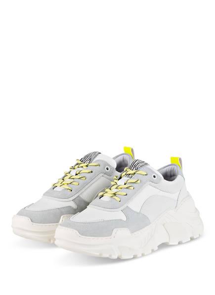 Mrs & HUGS Plateau-Sneaker, Farbe: WEISS/ GELB/ GRAU (Bild 1)