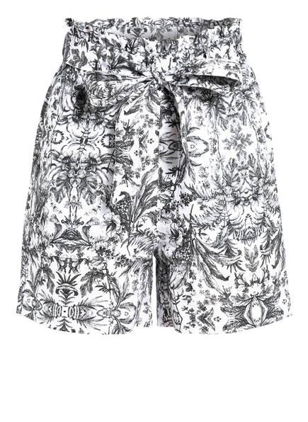 Mrs & HUGS Paperbag-Shorts aus Leinen, Farbe: SCHWARZ/ WEISS (Bild 1)