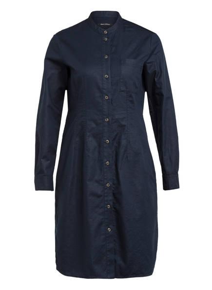 Marc O'Polo Hemdblusenkleid mit Leinen, Farbe: DUNKELBLAU (Bild 1)