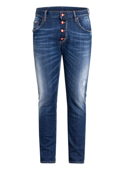 DSQUARED2 Destroyed Jeans SKATER Slim Fit, Farbe: 470 BLUE (Bild 1)
