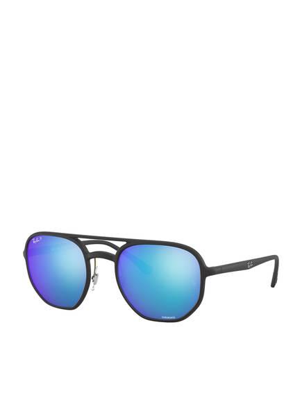Ray-Ban Sonnenbrille RB4321CH, Farbe: 601SA1 - MATT SCHWARZ/ BLAU POLARISIERT (Bild 1)