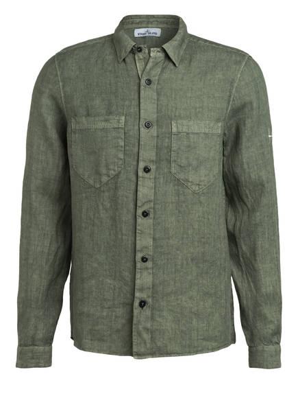 STONE ISLAND Leinenhemd Regular Fit, Farbe: OLIV (Bild 1)