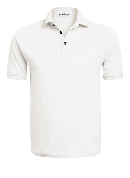 STONE ISLAND Piqué-Poloshirt, Farbe: ECRU (Bild 1)