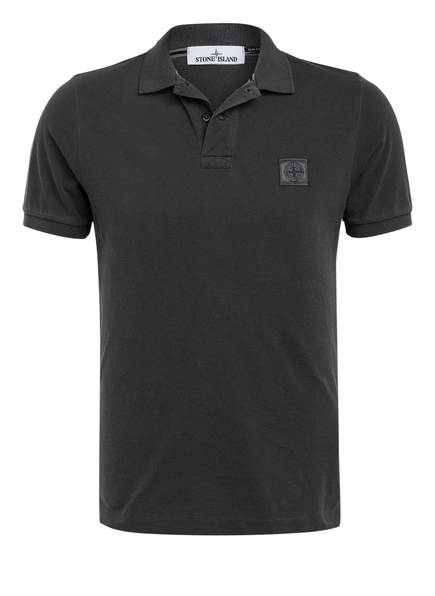 STONE ISLAND Piqué-Poloshirt Slim Fit, Farbe: DUNKELGRAU (Bild 1)