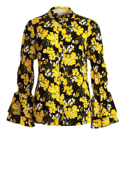 MICHAEL KORS Bluse mit 3/4-Arm, Farbe: SCHWARZ/ GELB/ GRÜN (Bild 1)