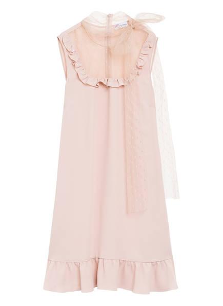 RED VALENTINO Kleid mit Volantbesatz, Farbe: ROSE (Bild 1)