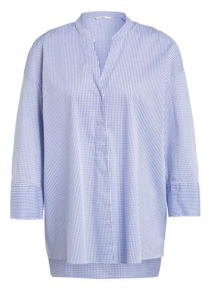 Sophie Oversized-Bluse OPPI mit 3/4-Arm , Farbe: BLAU/ WEISS (Bild 1)
