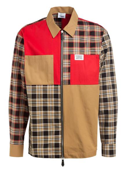 BURBERRY Overshirt , Farbe: CAMEL/ SCHWARZ/ ROT (Bild 1)