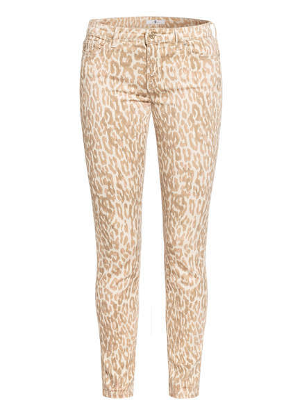 7 for all mankind Jeans PYPER CROP, Farbe: CROP LEO PRINT NATURAL BEIGE (Bild 1)