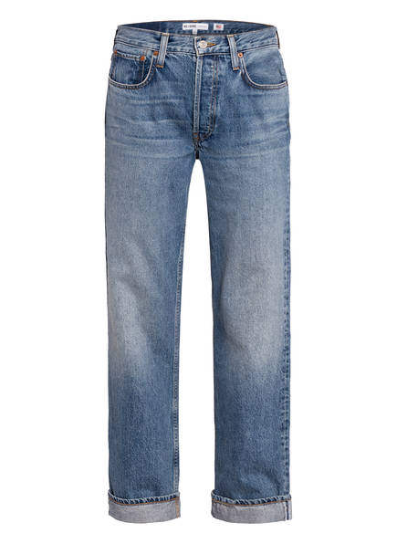 RE/DONE Jeans 90S RELAXED Slim Fit, Farbe: MED SPECKLE LIGHT BLUE (Bild 1)
