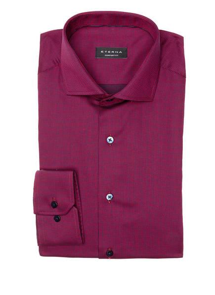 ETERNA Hemd Comfort Fit, Farbe: DUNKELROT/ BLAU (Bild 1)