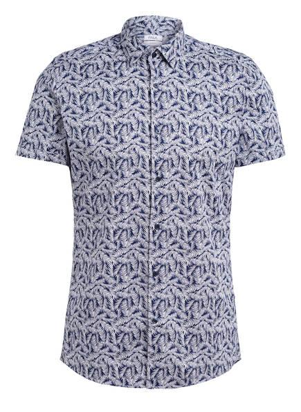 PAUL Kurzarm-Hemd Slim Fit, Farbe: BLAU/ WEISS (Bild 1)