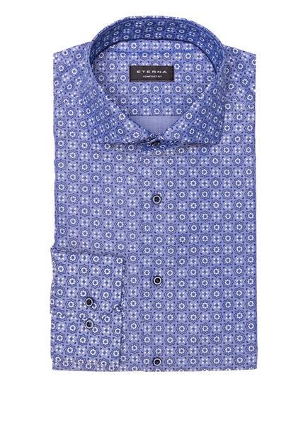 ETERNA Hemd Comfort Fit, Farbe: BLAU/ WEISS (Bild 1)