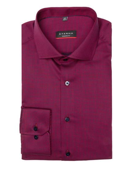 ETERNA Hemd Modern Fit, Farbe: DUNKELROT/ BLAU (Bild 1)