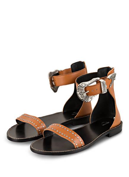 ZADIG&VOLTAIRE Sandalen EVER mit Nietenbesatz, Farbe: COGNAC (Bild 1)