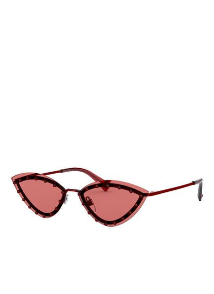 VALENTINO Sonnenbrille VA2033 mit Schmucksteinbesatz , Farbe: 305484 - ROT/ ROT (Bild 1)