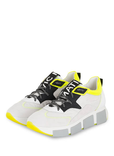 VIC MATIÉ Plateau-Sneaker , Farbe: WEISS/ NEONGRÜN (Bild 1)