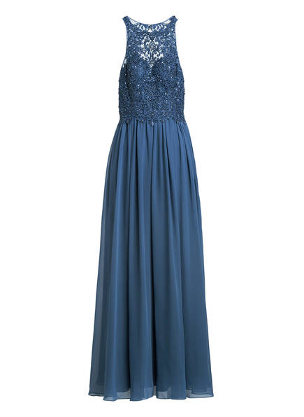 LAONA Abendkleid mit Pailletten- und Schmucksteinbesatz, Farbe: BLAUGRAU (Bild 1)
