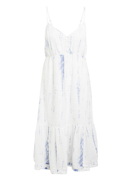 Rails Kleid DELILAH mit Leinen, Farbe: WEISS/ HELLBLAU (Bild 1)