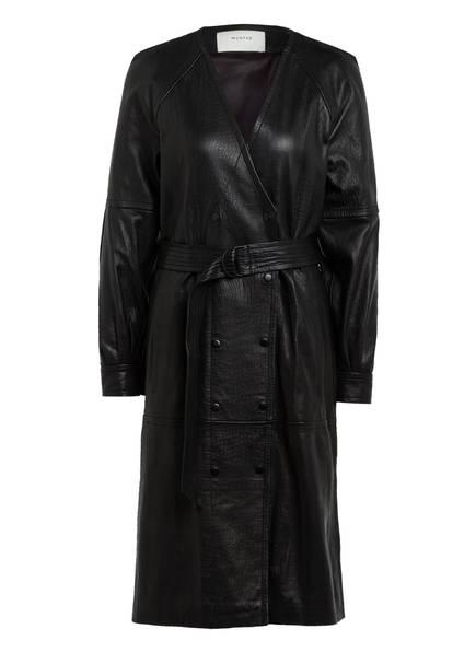 MUNTHE Wickelkleid ESMERALDAS aus Leder, Farbe: SCHWARZ (Bild 1)