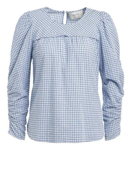 MUNTHE Bluse ELEANOR, Farbe: BLAU/ WEISS (Bild 1)
