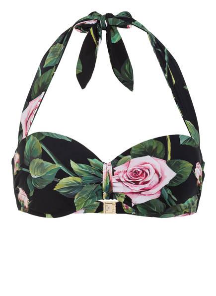 DOLCE&GABBANA Bandeau-Bikini-Top , Farbe: SCHWARZ/ GRÜN / ROSA (Bild 1)