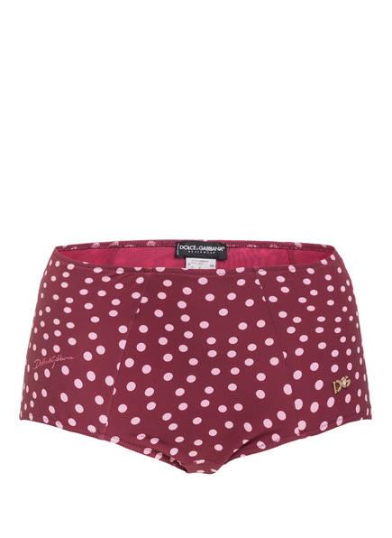 DOLCE&GABBANA Bikini-Hose, Farbe: BORDEAUX/ ROSA (Bild 1)