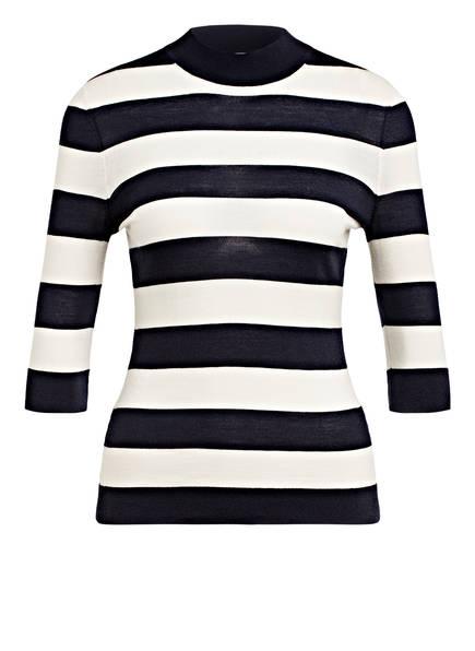 BOSS Strickshirt FALEENA, Farbe: DUNKELBLAU/ ECRU (Bild 1)