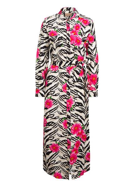 Jadicted Hemdblusenkleid mit Leinen, Farbe: ECRU/ PINK/ SCHWARZ (Bild 1)