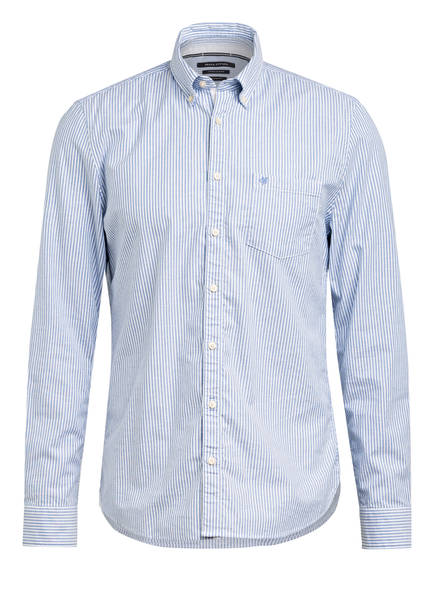 Marc O'Polo Hemd Shaped Fit, Farbe: HELLBLAU/ WEISS GESTREIFT (Bild 1)