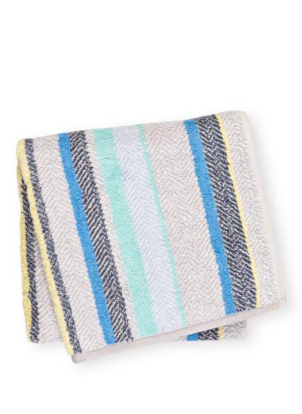 Cawö Handtuch CONTOUR, Farbe: HELLGRAU/ BLAU/ TÜRKIS (Bild 1)
