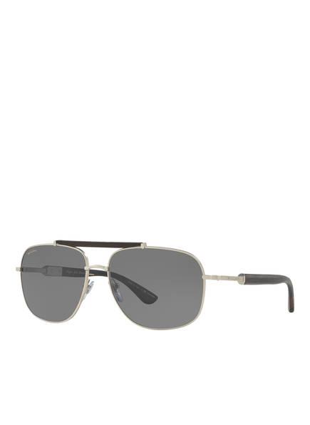 BVLGARI Sunglasses Sonnenbrille BV5040K, Farbe: 200781 - MATT SILBER/ GRAU POLARISIERT (Bild 1)