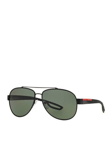 PRADA Sonnenbrille PS 55QS, Farbe: DG05X1 - SCHWARZ/ GRÜN POLARISIERT (Bild 1)