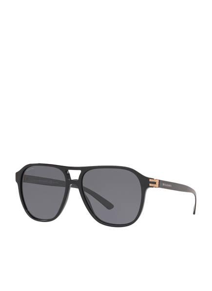 BVLGARI Sunglasses Sonnenbrille BV7034, Farbe: 501/81 - SCHWARZ/ GRAU POLARISIERT (Bild 1)