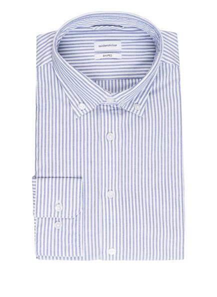 seidensticker Hemd Shaped Fit, Farbe: WEISS/ BLAU GESTREIFT (Bild 1)