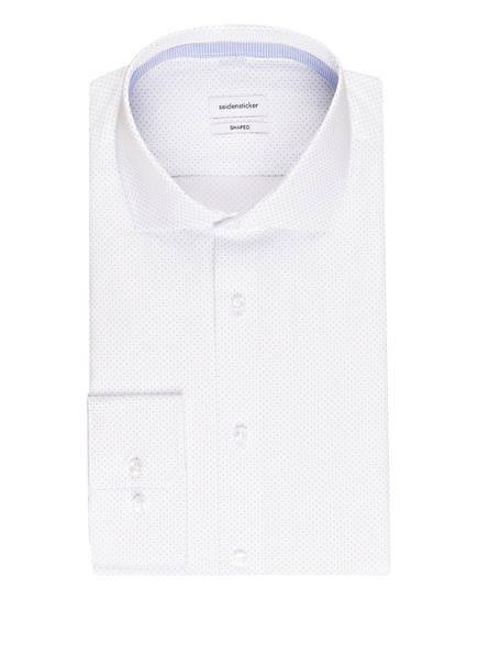 seidensticker Hemd Shaped Fit, Farbe: WEISS/ HELLBLAU GEPUNKTET (Bild 1)