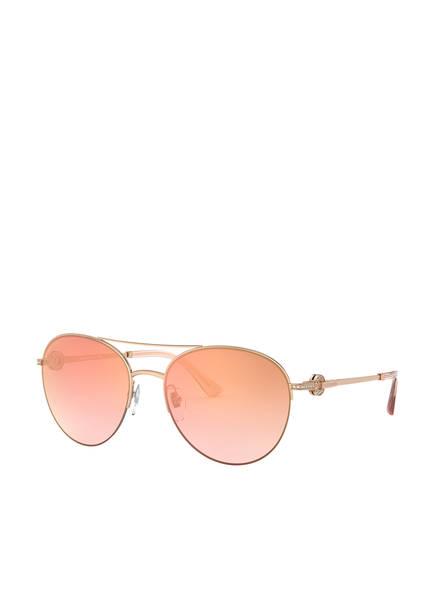 BVLGARI Sunglasses Sonnenbrille BV6132B mit Schmucksteinbesatz, Farbe: 20146F - GOLD/ PINK VERLAUF (Bild 1)