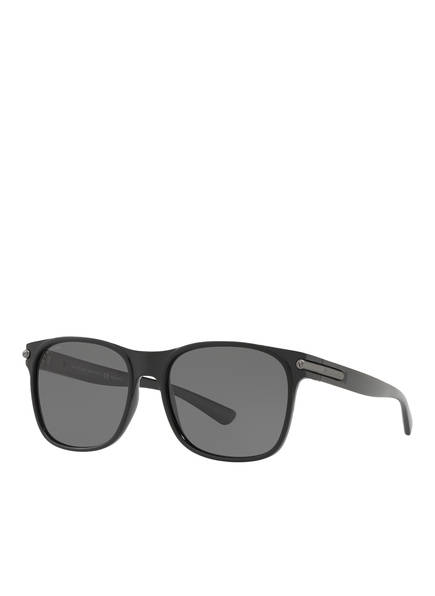BVLGARI Sunglasses Sonnenbrille BV7033, Farbe: 901/81 - MATT SCHWARZ/ GRAU POLARISIERT (Bild 1)