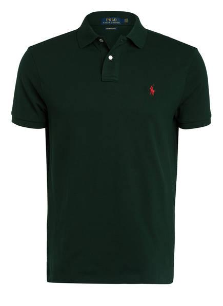 POLO RALPH LAUREN Piqué-Poloshirt Custom Slim Fit , Farbe: DUNKELGRÜN (Bild 1)