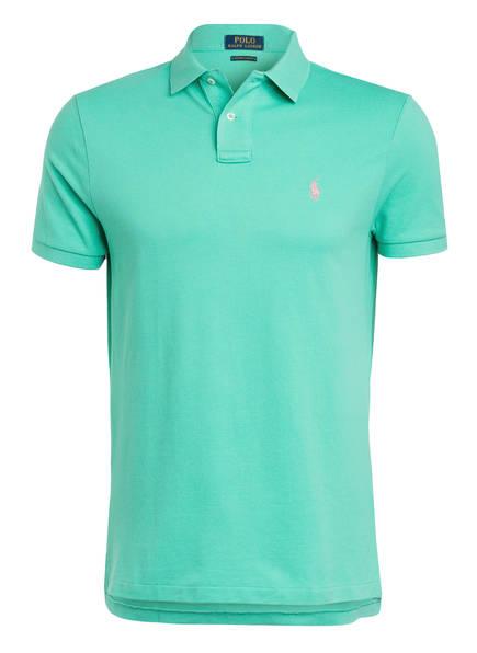 POLO RALPH LAUREN Piqué-Poloshirt Custom Slim Fit , Farbe: HELLGRÜN (Bild 1)