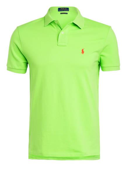 POLO RALPH LAUREN Piqué-Poloshirt Custom Slim Fit , Farbe: KIWIGRÜN (Bild 1)
