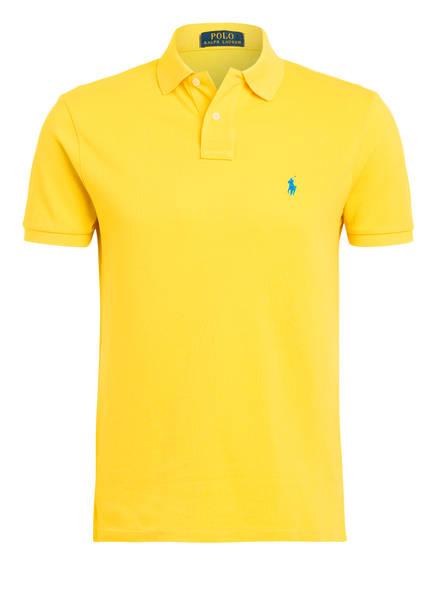 POLO RALPH LAUREN Piqué-Poloshirt Custom Slim Fit , Farbe: GELB (Bild 1)