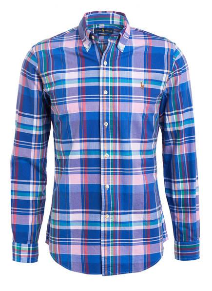 POLO RALPH LAUREN Oxfordhemd Custom Fit, Farbe: BLAU/ ROSA/ LILA KARIERT (Bild 1)