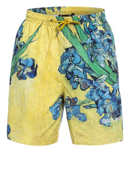 DAILY PAPER Shorts VAN HALI, Farbe: GRÜN/ GELB (Bild 1)