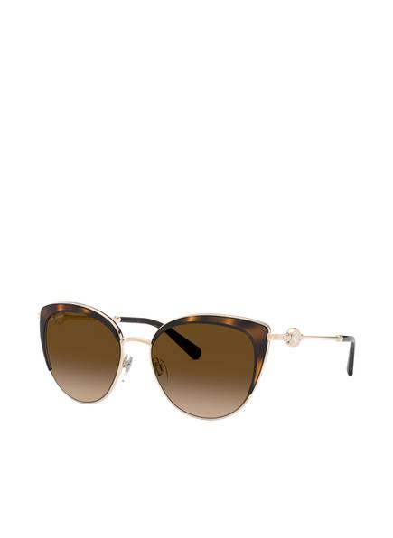 BVLGARI Sunglasses Sonnenbrille BV6133, Farbe: 278/13 - GOLD/ BRAUN VERLAUF (Bild 1)