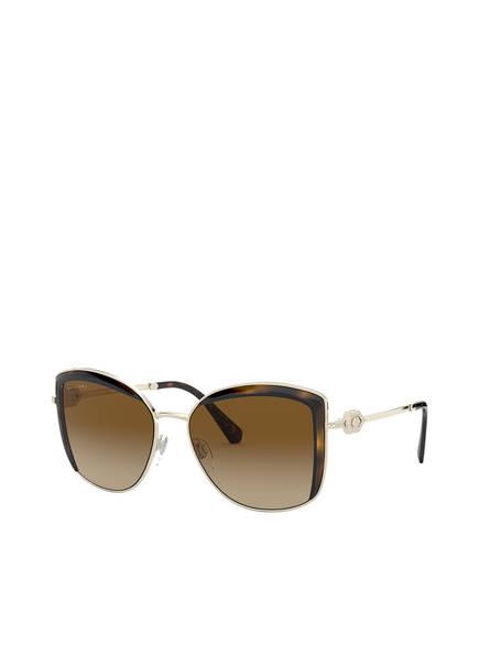 BVLGARI Sunglasses Sonnenbrille BV6128B mit Schmucksteinbesatz , Farbe: 278/T5 - GOLD/ BRAUN VERLAUF (Bild 1)