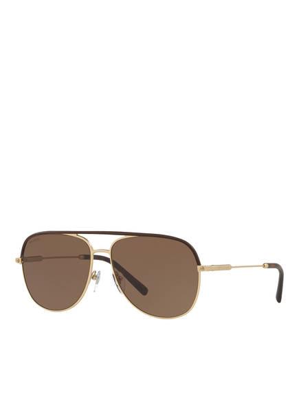 BVLGARI Sunglasses Sonnenbrille BV5047Q, Farbe: 202273 - MATT GOLD/ BRAUN (Bild 1)
