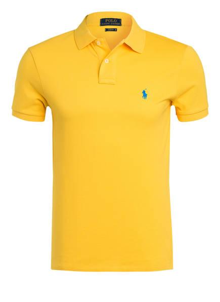 POLO RALPH LAUREN Piqué-Poloshirt Slim Fit, Farbe: GELB  (Bild 1)