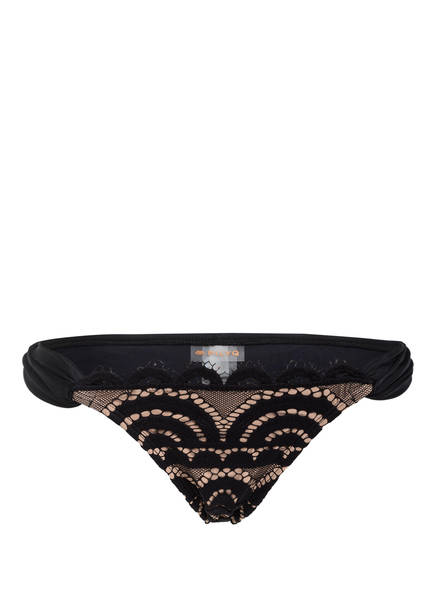 PILYQ Bikini-Hose MIDNIGHT , Farbe: SCHWARZ/ HELLBRAUN (Bild 1)