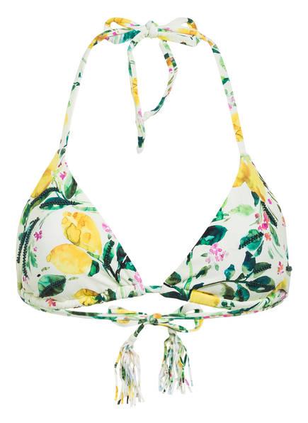 PILYQ Triangel-Bikini-Top LEMONS mit Schmucksteinbesatz , Farbe: HELLGELB/ GRÜN/ GELB (Bild 1)
